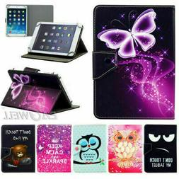 "US Universal For 8"" Inch Tablet Pattern PU Leather Folio Sta"