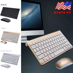 US Wireless Bluetooth Keyboard and Mouse Slim For iOS Androi