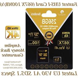 256GB Micro SD SDXC V30 A1 Memory Card Plus Adapter Pack  Am