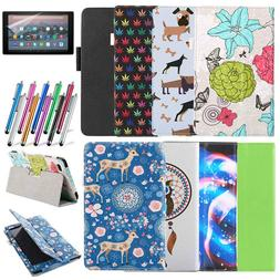 For Various Amazon Kindle Fire 7 8 10 inch Tablet Folio Leat
