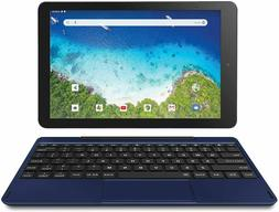 "RCA Viking Pro 10"" 2-in-1 Tablet 32GB Quad Core Blue Laptop"