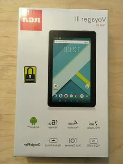 "RCA Voyager III  7"" 16GB Tablet Android Black - NEW and SEAL"