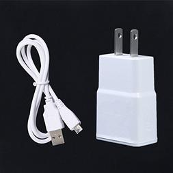 NiceTQ Wall AC Power Charger + USB Cable For Samsung Galaxy