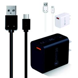 Wall Charger Micro USB Cable Fast Charging Cord For Samsung