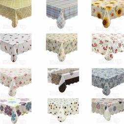 Warterproof Vinyl Tablecloth with Flannel Backed  Rectangle/
