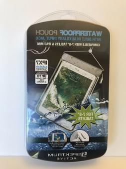 "Waterproof Pouch For 7-8"" tablets or iPad Mini IPX7 certifie"
